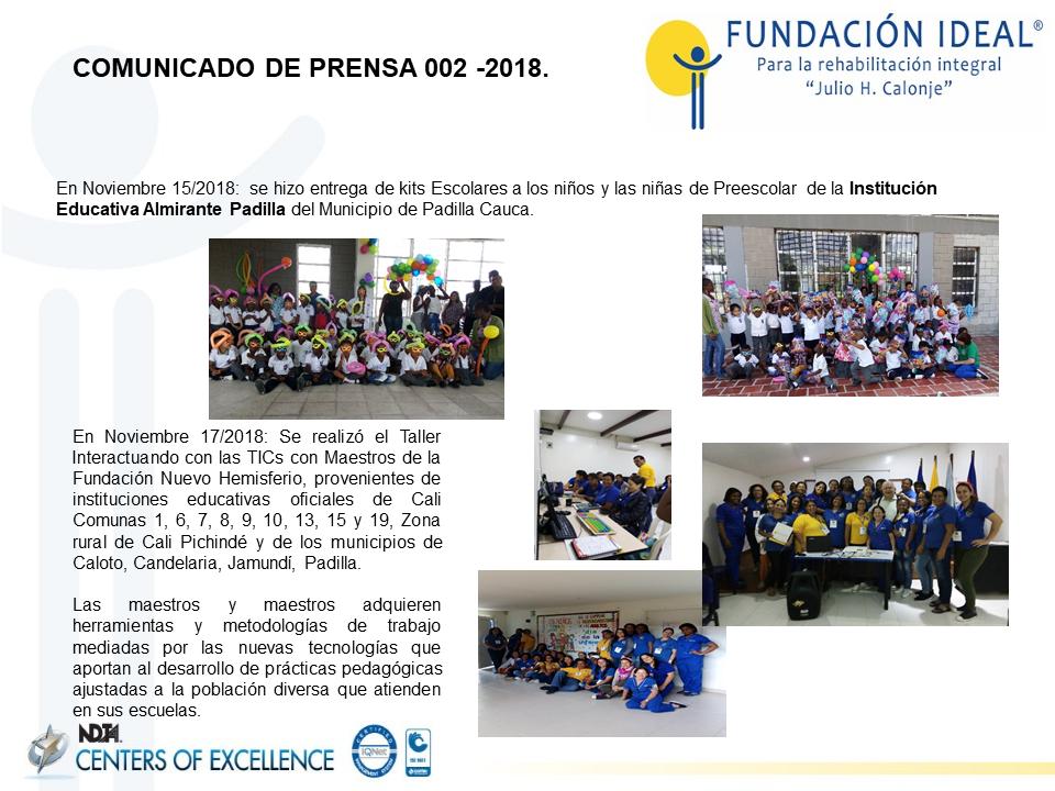 Articulacion de la Estrategia de Telerehabilitacion con el Programa de Rehabilitacion con Participacion Comunitaria Amazonas Colombia
